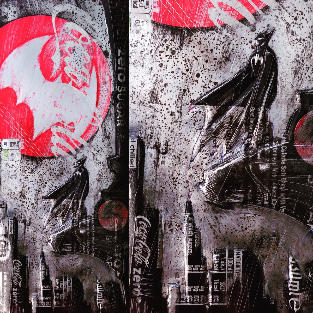 ComicCAN #cokezero by Chris Duncan F/RETWEET  Original &amp; prints available! #batman #coke #marvel #dc #comics #recycle  #streetart  #popart<br>http://pic.twitter.com/ys7oteUCxn