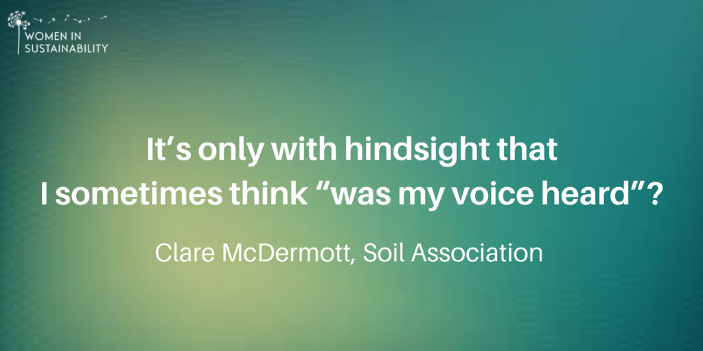 #Interview: Clare McDermott @SoilAssociation reflects back on how she&#39;s experienced being a #woman in her sector  http:// womeninsustainability.co.uk/article/women- sustainability-clare-mcdermott-soil-association &nbsp; … <br>http://pic.twitter.com/knbPWEjqVG