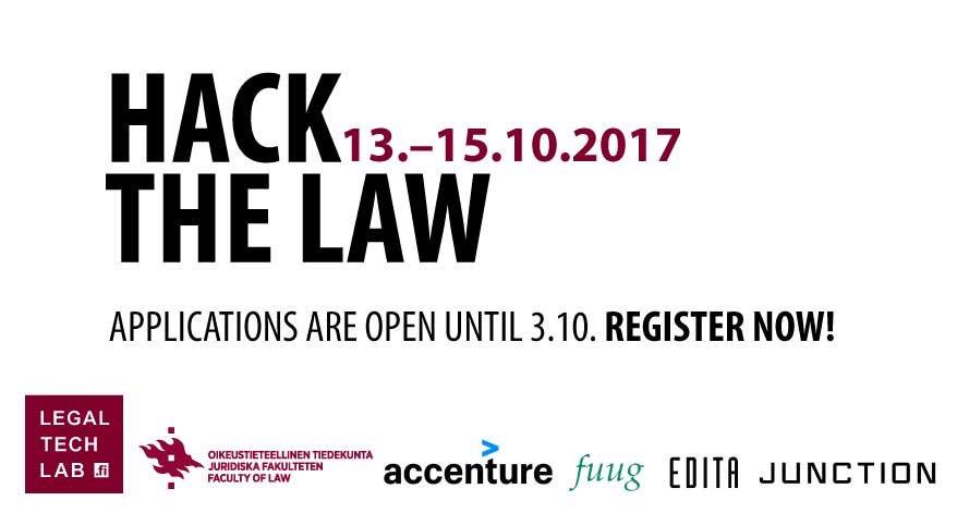 Thank you @edita @FuuginSaatio @Accenture @hackJunction for making legal better!  https://www. helsinki.fi/en/networks/le gal-tech-lab/hack-the-law-13.-15.10.2017 &nbsp; …  #legaltech #legaldesign<br>http://pic.twitter.com/VLrA6k7WvH