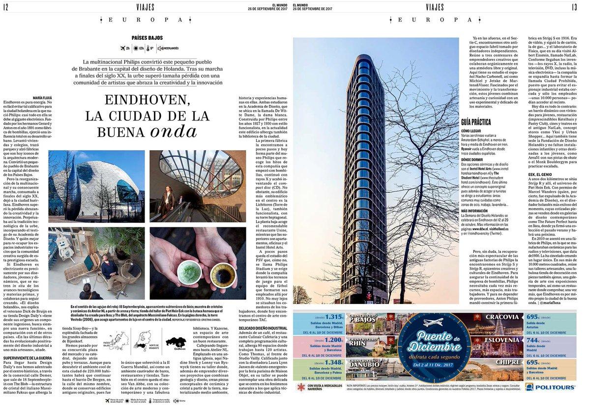 Great article in El Mundo about #Eindhoven La ciudad de la buena onda &gt; The city of good waves. Gracias @elmundoes and @visitholland<br>http://pic.twitter.com/AKmYd2FX5c