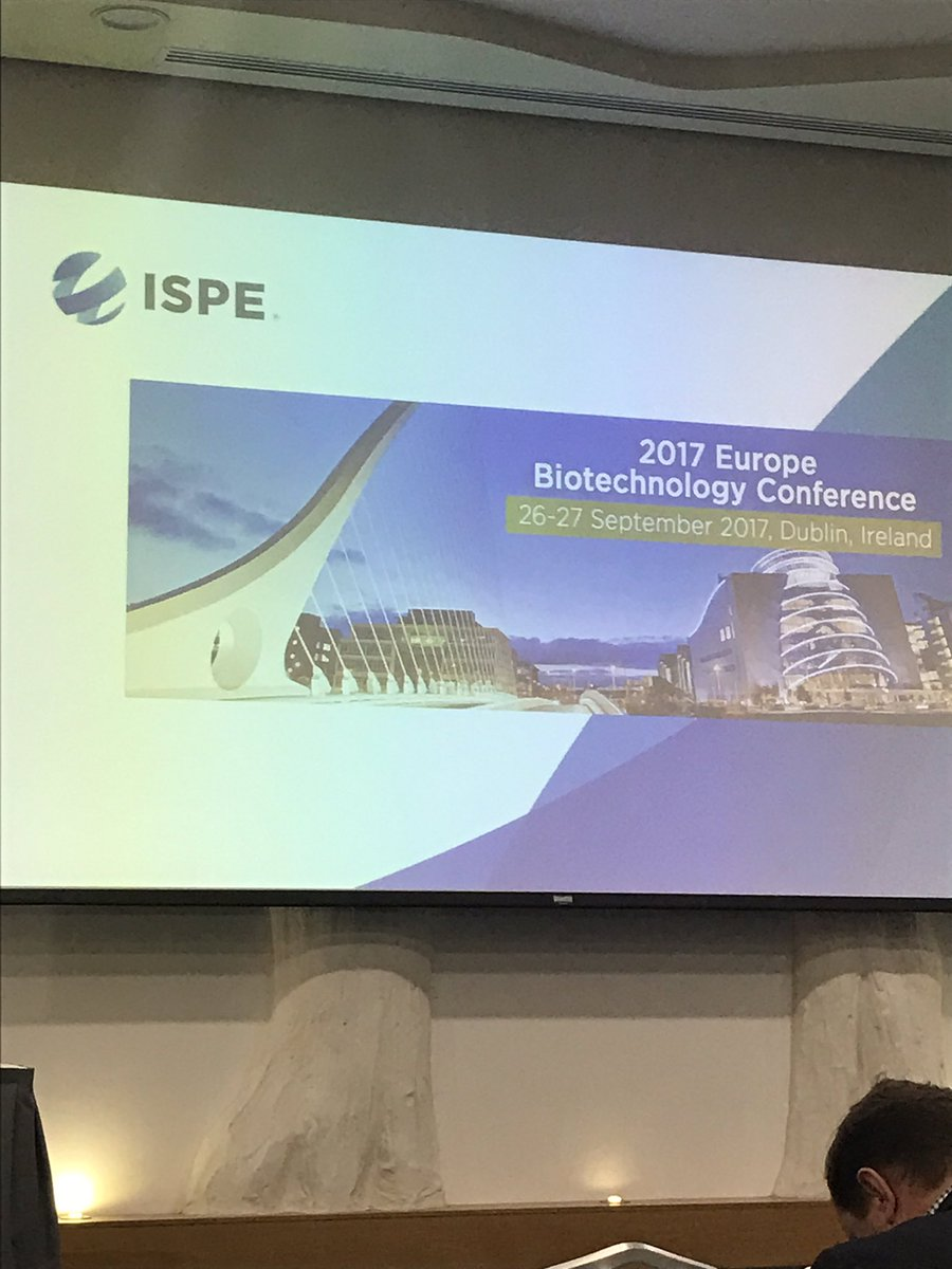 Day 1 at the #biotechnology conference #ispe #dublin talking about the #futureofpharma @BioPharmaE @davr1977<br>http://pic.twitter.com/pALiig2lX9