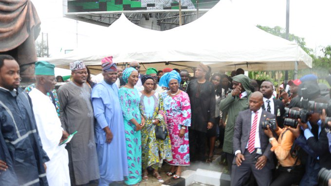 %name (Photos) Lagos State Governor Unveils Statue of Legendary Chief Obafemi Awolowo in Ikeja