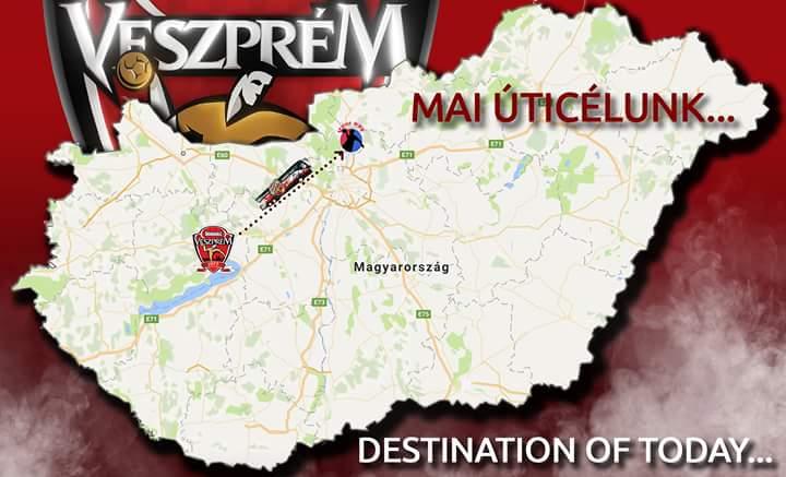 We are off to Vác to play in the Hungarian championship tonight. #WeAreVeszprem #HandballCity https://t.co/YaCPgJBv1e