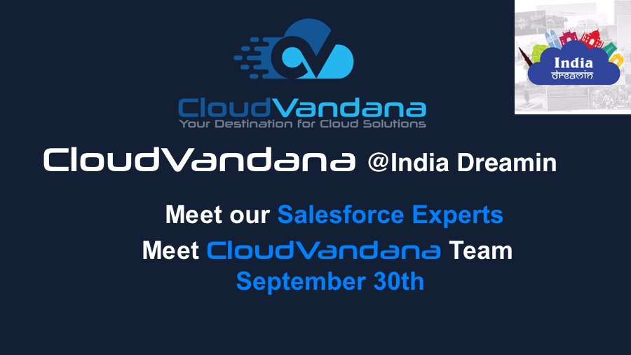 Find @CloudVandana #Salesforce Experts at @sfindiadreamin on 30th September<br>http://pic.twitter.com/UarCeR0RXL