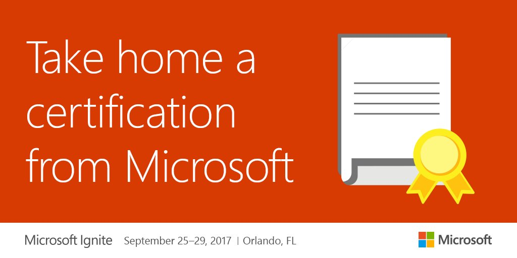 Microsoft Ignite On Twitter Take A Certification Exam 730 600