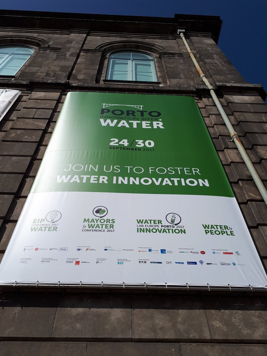 Here we go! #porto is houseto #water #innovation this week! @eip_water @UN_Water @ScuolaSantAnna @PortoWaterIW @EuroGeosciences @WaterTrends<br>http://pic.twitter.com/X8Guf00VgR