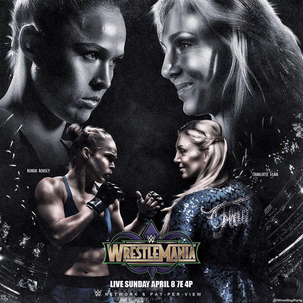 .@RondaRousey X @MsCharlotteWWE  Hope you guys dig. #WrestleMania #SDLive<br>http://pic.twitter.com/RgJF0V1l59