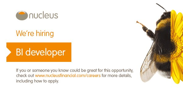 looking for a talent BI developer to join @TheMaccage and the BI team here @nucleuswrap. Get in touch for more info. #Edinburgh #fintech<br>http://pic.twitter.com/sj9ijgnNPt