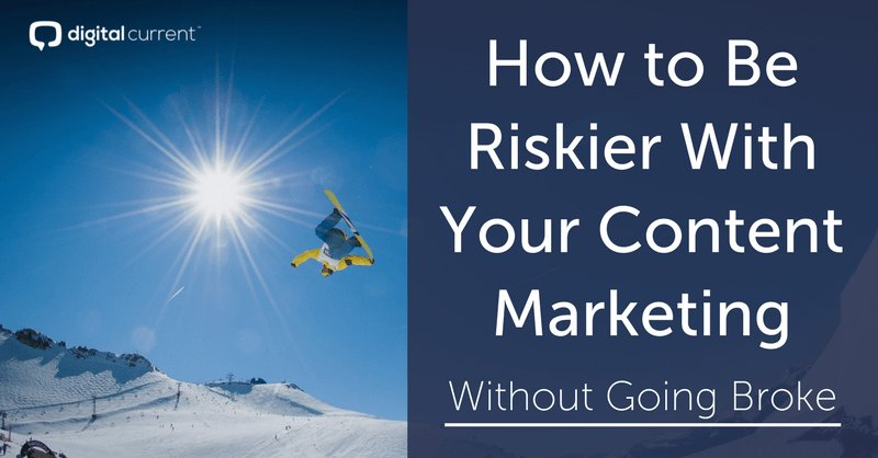 How To Be Riskier With Your #ContentMarketing Without Going Broke (by @BrianHonigman via @digitalcurrent) &gt;&gt;&gt;&gt;&gt;&gt;&gt;  http:// buff.ly/2tv53LU  &nbsp;  <br>http://pic.twitter.com/8kjlr9ppck