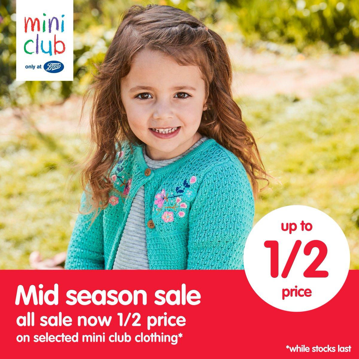 8025ab074b60 #BootsIre Ireland mini club mid-season sale starts tomorrow!  #boots  #minifashion #sale #discount #storespic.twitter.com/6Ja9Q9YOJD