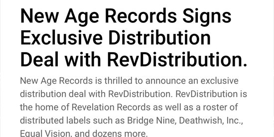 New Age Records on Twitter: