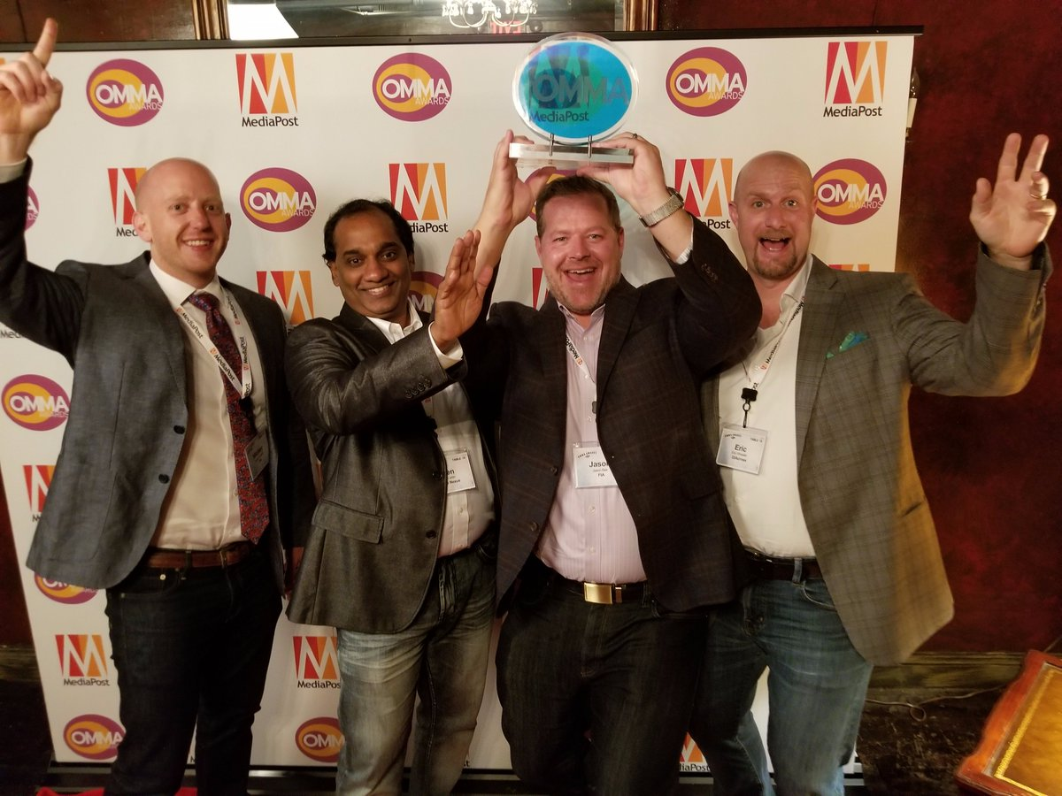We&#39;re incredibly honored to a be a winner in the #OMMAaawards under the #ArtificialIntelligence category last night:  http:// tinyurl.com/yc4mtb6r  &nbsp;  <br>http://pic.twitter.com/IvTBsVH2R0