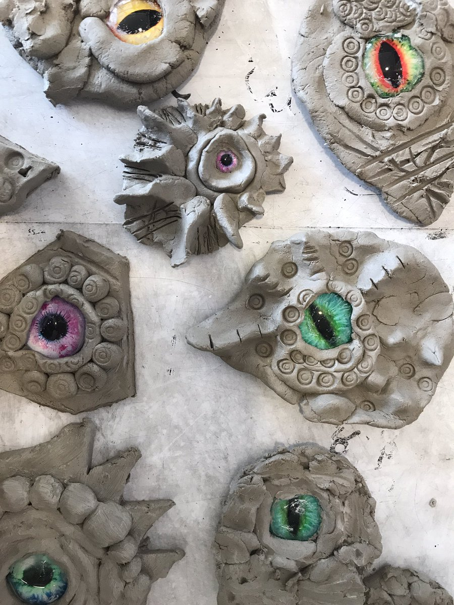 Teacher Glitter On Twitter Whatitaughttoday Clay Dragon Eye Work