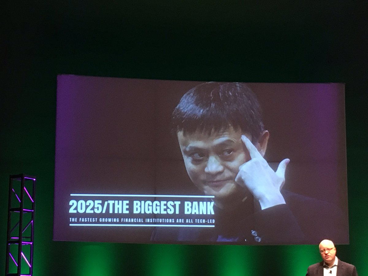The biggest bank in the future will be a technology company - @BrettKing    #NMCHI17 #banking #alibaba #tech #fintech #technology<br>http://pic.twitter.com/UXItSM3mF6