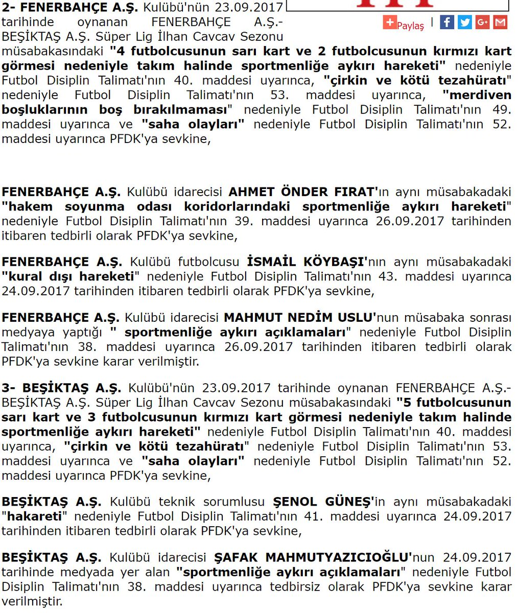 🔥 Beşiktaş ve Fenerbahçe, PFDK'ya sevk e...