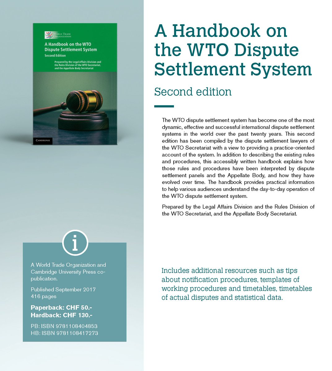 exam law of the wto This memorandum offers an analysis of transparency and public participation in the dispute settlement system of the world trade organization (wto) with specific regard to current practice and the on-going review of the dispute settlement understanding (dsu.