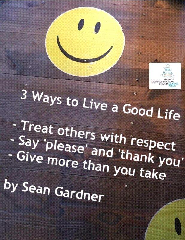 3 ways to live a good life   - @2morrowknight #JoyTrain #Spdc<br>http://pic.twitter.com/mEjsVwOmRA