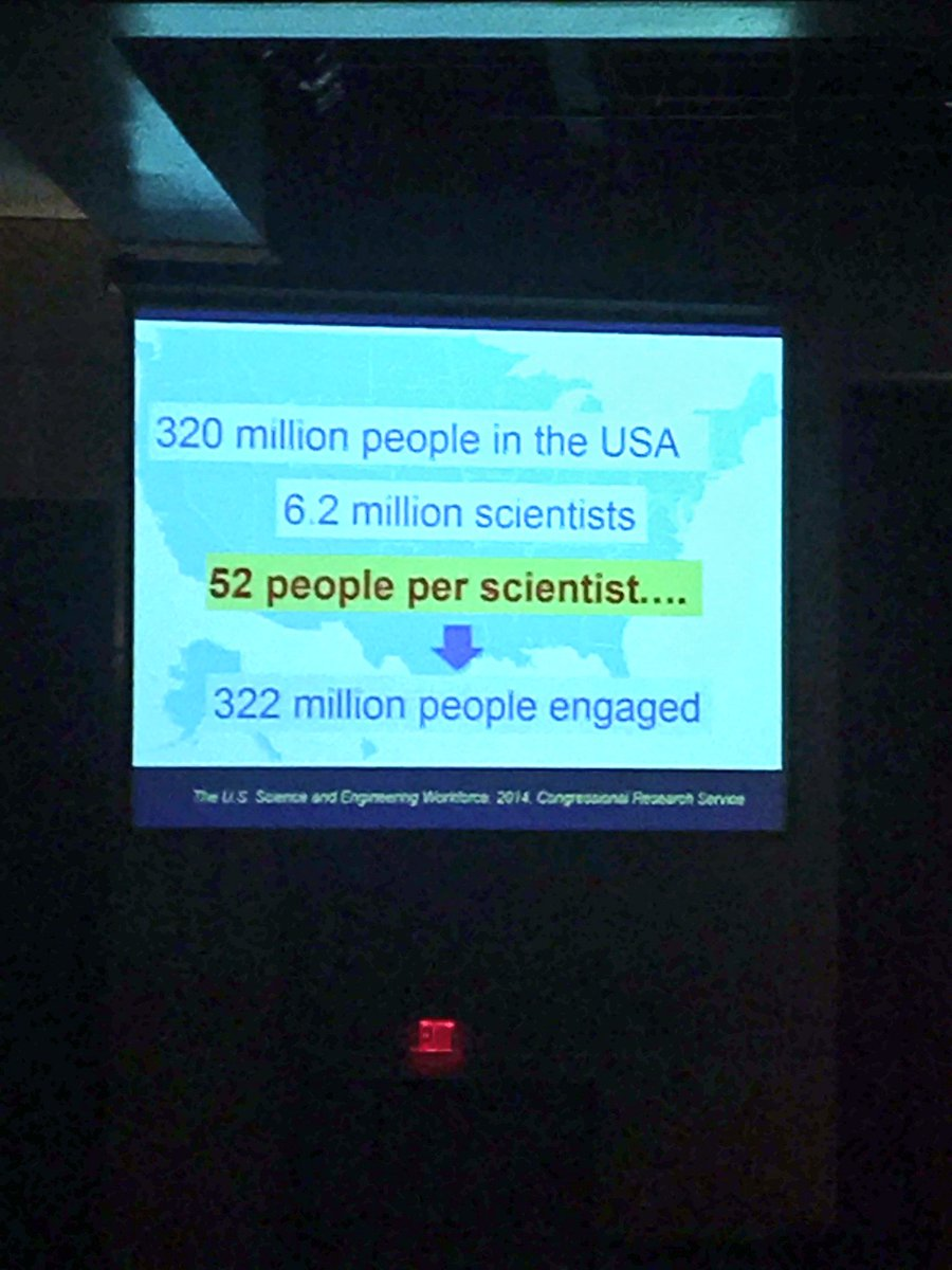 If every scientist talked to 1 new person a week, we could reach the whole US. Nadkarni. #scicomm  #TWS2017<br>http://pic.twitter.com/55mCRn4BBB