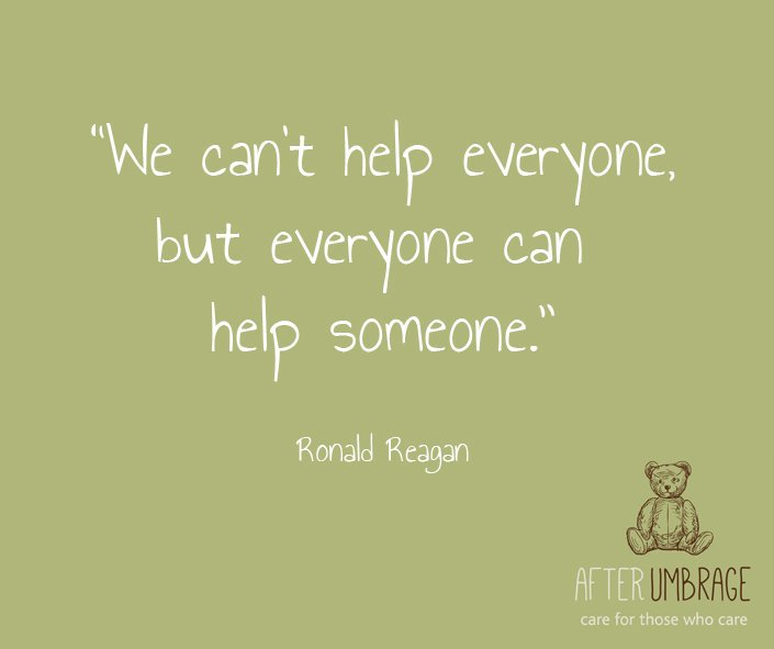 Some #CharityTuesday inspiration: &quot;We can&#39;t help everyone, but everyone can help someone.&quot; - Ronald Reagan #quote #inspire #carers #charity<br>http://pic.twitter.com/QUqRF7cQv4