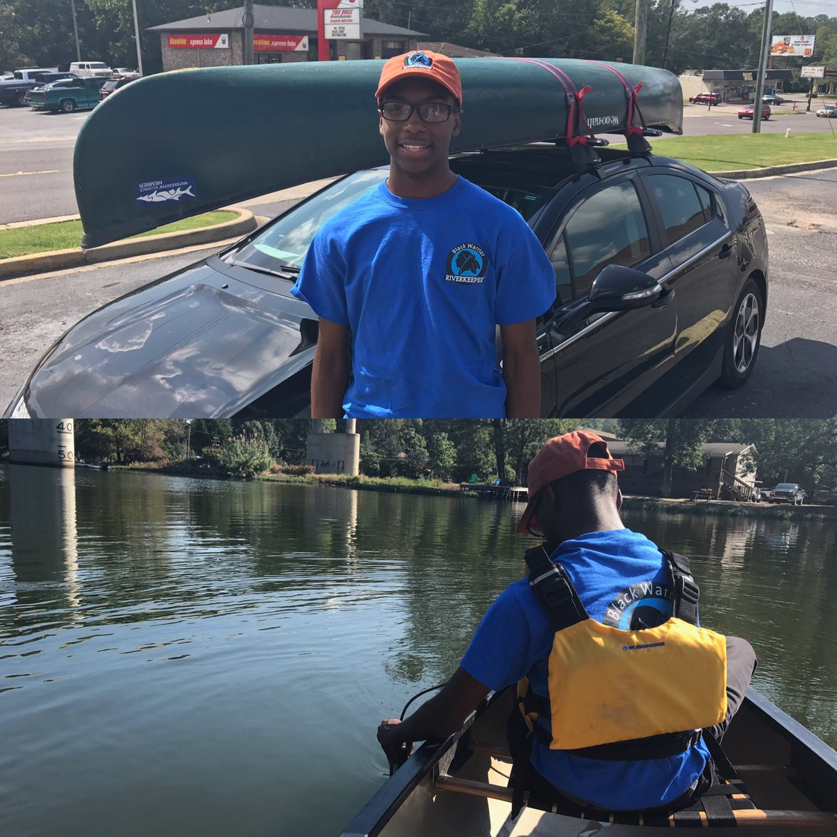 Our @HFCristoRey intern Jay&#39;s best subject is #science.  Naturally, he loves our new Ambient Water Quality Monitoring project! #DefendRivers<br>http://pic.twitter.com/YBCwhLmJ3k