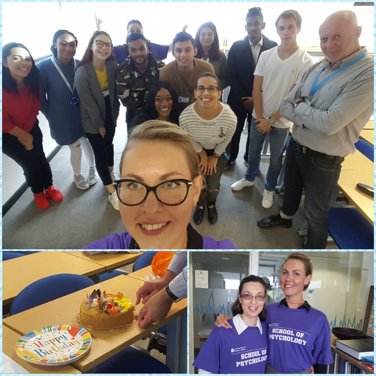 What a special day! Celebrating the birth of Bsc Business Psychology and a birthday of our one and only Mark Holloway! #businesspsychology <br>http://pic.twitter.com/iOyjkEUy4b
