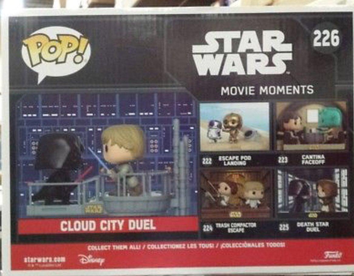 Cloud City Duel Starwars Vader Funko POP Movie Moments Luke