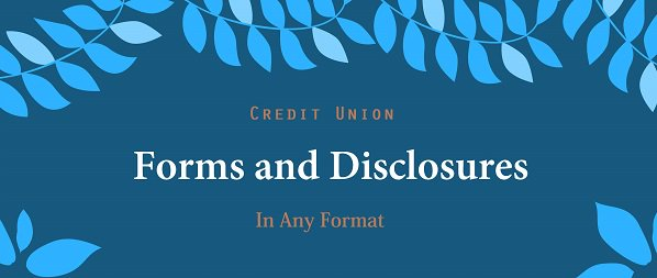 Stay Compliant with #Forms&amp;Disclosures from Oak Tree Forms.  Lending Solutions for your credit union at  http:// owl.li/9GVa30fkNtR  &nbsp;  <br>http://pic.twitter.com/c6r2fq19nV