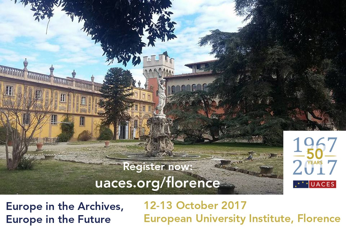 We have an exciting new addition to the programme for the &#39;#Europe in the Archives, Europe in the Future&#39; conference marking #UACES50... 1/2 <br>http://pic.twitter.com/BnQUXeAOTO