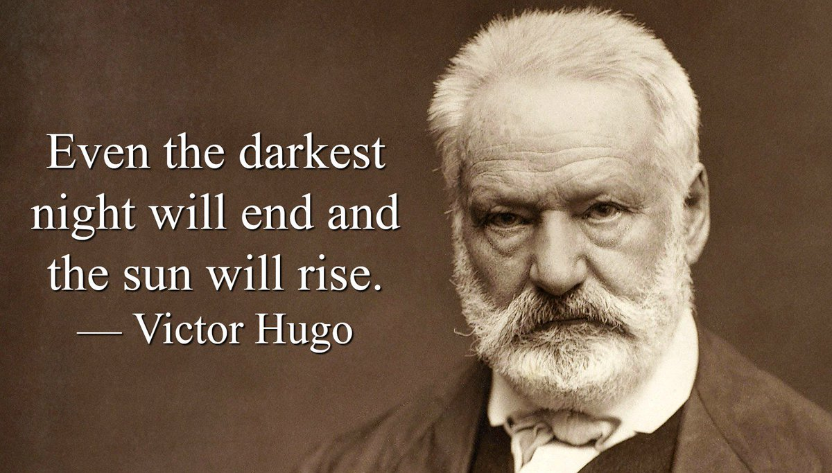 Even the darkest night will end and the sun will rise. - Victor Hugo #quote <br>http://pic.twitter.com/bOw0U62PoC