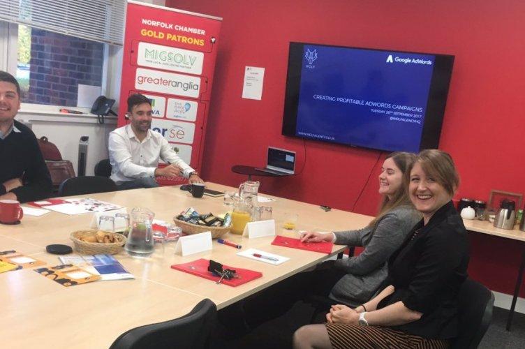 Excellent day delivering Google AdWords training at the @norfolkchamber offices today #adwords #norwich<br>http://pic.twitter.com/oPagbd9GXd