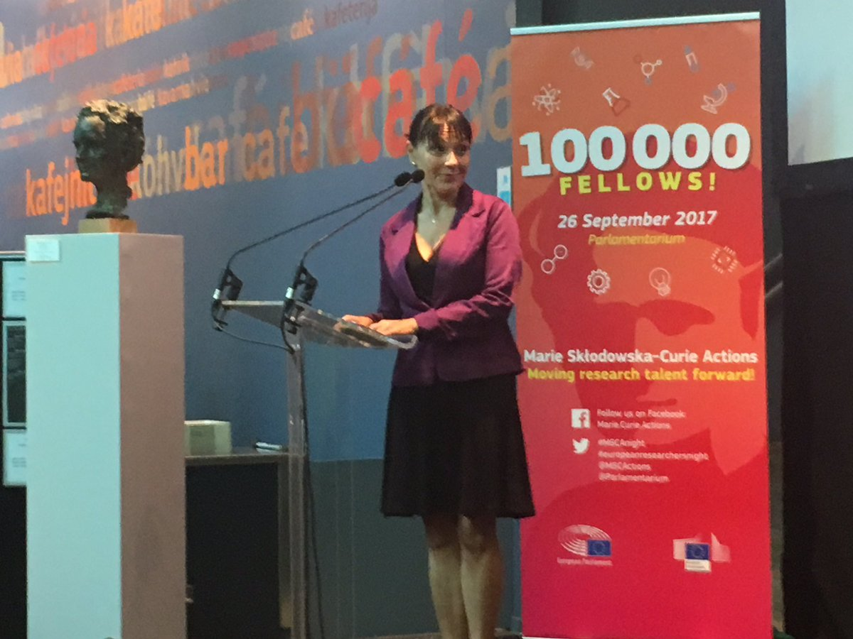 &quot;In the past, the European Parliament has repeatedly called for increased #research funding&quot; -  @sylvieguillaume at #MSCAnight<br>http://pic.twitter.com/Q4g9v4TLE0