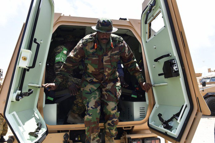 #Amisom received 19 combat vehicles from the #US to boost its capacity in its fight against #AlShabaab &amp; stabilizing #Somalia @ShabelleMedia<br>http://pic.twitter.com/m6ctvXccu3