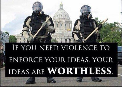 Using physical force against peaceful people generates unintended consequences as they resist the choices we make for them. #liberty #police <br>http://pic.twitter.com/L30caDv01c