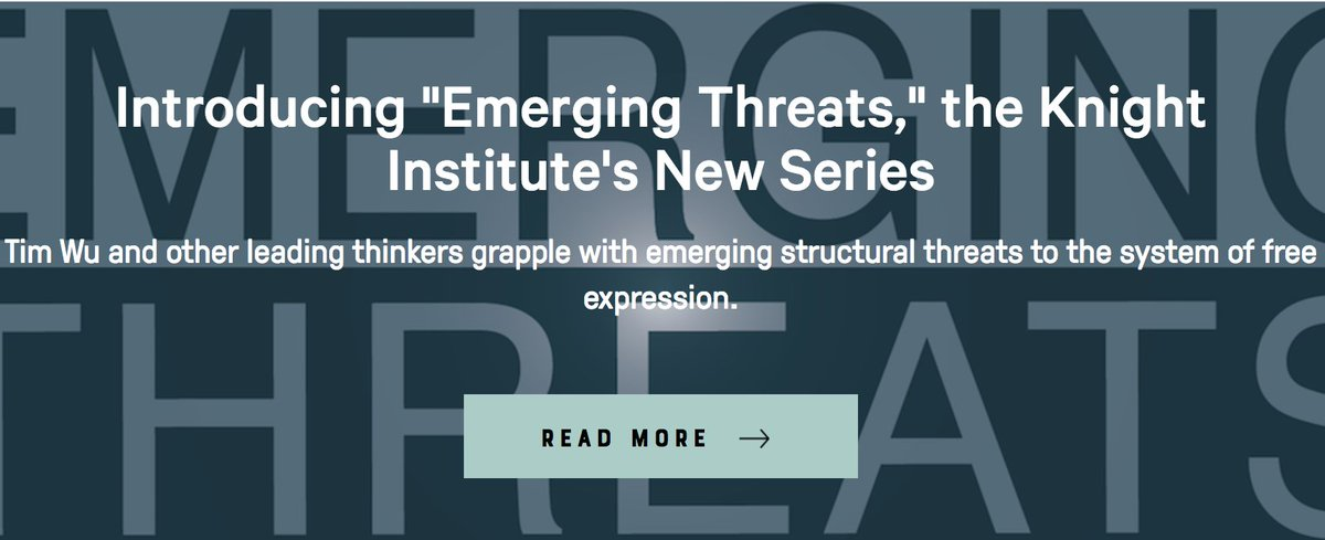 knight st amendment on introducing emerging threats  introducing emerging threats our new series of essays addressing incipient threats to the first amendment