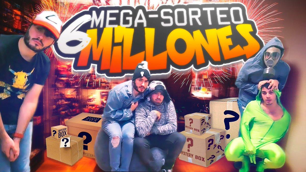 ⚡️🔥NUEVO VÍDEO🔥⚡️  Los personajes del canal nos reunimos para celebrar los 6 millones con un MEGA-SORTEO.  https://youtu.be/ZIaFPJ0iErg