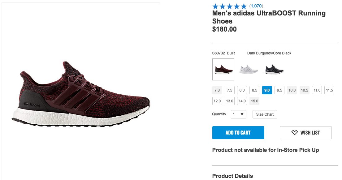 b047d5d930adf The adidas Ultra Boost 3.0  Dark Burgundy  is now available via Finishline     http   bit.ly 2fpEeEa pic.twitter.com KRKnpC5Gs7