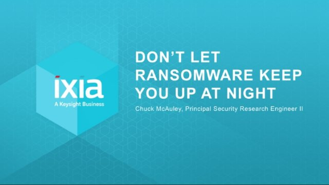 Don't Let #Ransomware Keep You up at Night! Join Ixia for a Webinar, September 28 at 1 pm PT/4 pm ET  http:// gag.gl/RC8eza  &nbsp;   #Ixiacom <br>http://pic.twitter.com/ZXF8mwS9y1