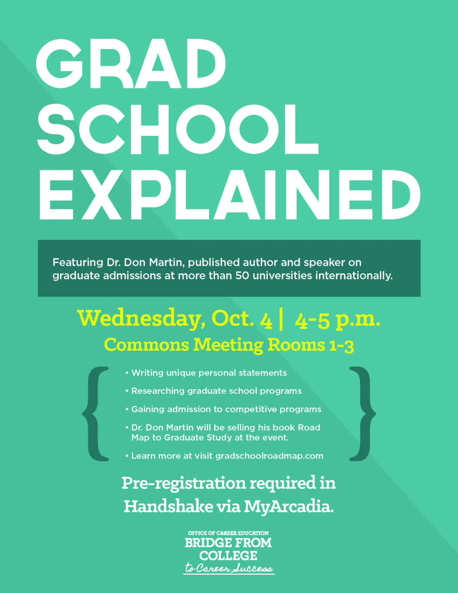 Thinking about #GradSchool? Register for this info session on Wednesday 10/4 featuring expert Dr. Don Martin:  https:// youtu.be/rzw03NDtl9Y  &nbsp;  <br>http://pic.twitter.com/9zb2dKkxJ0
