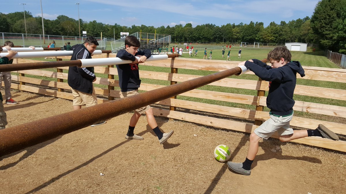 China Grove Middle On Twitter Red Devils Enjoying Human Foosball