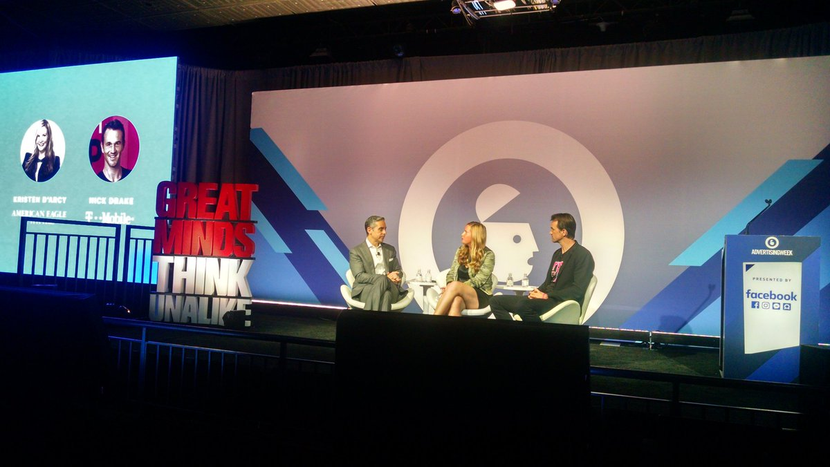 Great minds think unalike. #americaneagle #tmobile sharing their experience rolling out #messengerbots #AWNewYork<br>http://pic.twitter.com/TkUbrOxspL