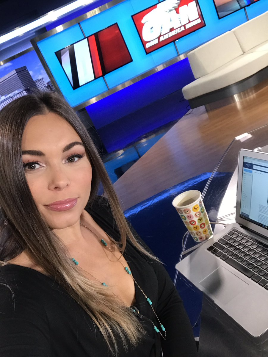 Brie Thiele On Twitter Good Morning From The OANN Desk Biiiig Cup Of Coffee Needed Today As Its A Busy Day In Washington News Reporter
