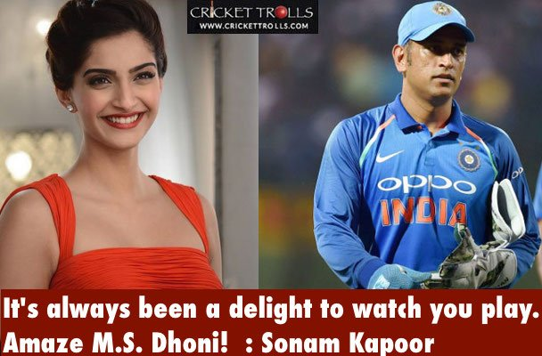 Sonam Kapoor about MS Dhoni #cricket #bollywood <br>http://pic.twitter.com/cIJos11egy