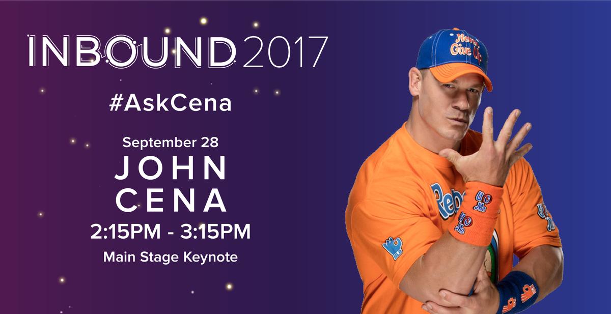 John Cena na evencie INBOUND, planowane Q&A