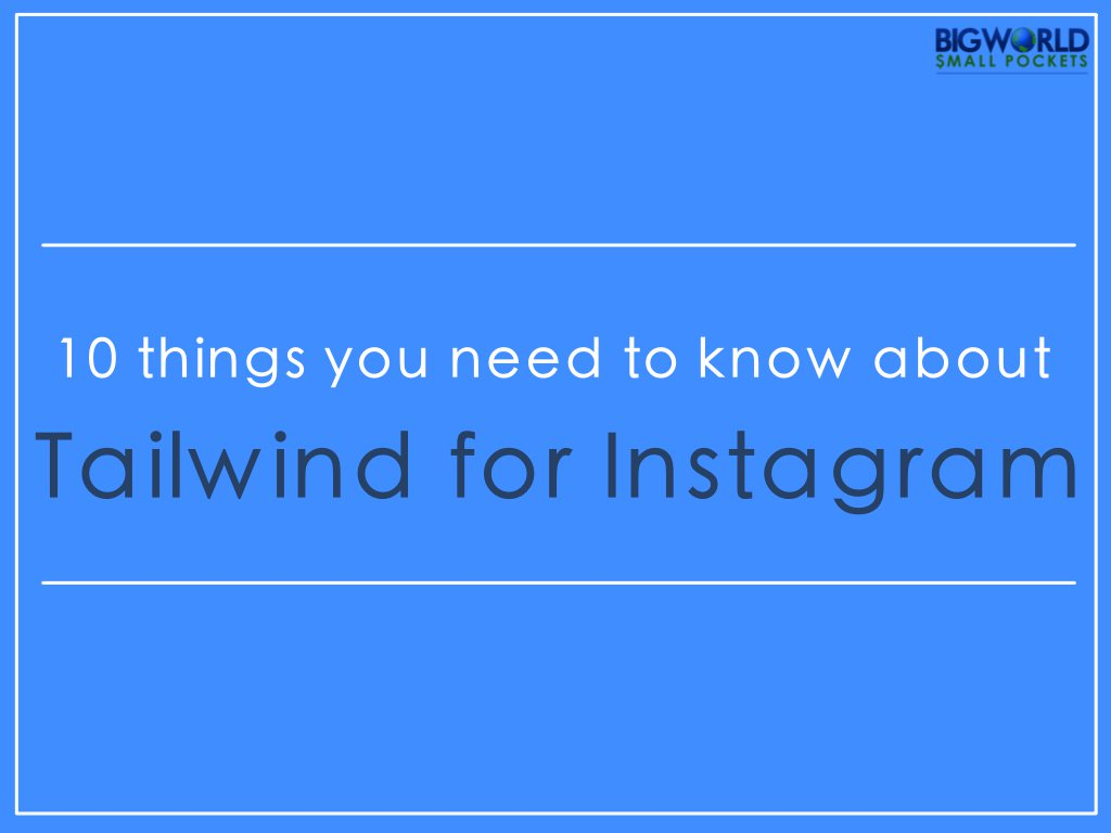 10 Things You Need to Know About #Tailwind for #Instagram  http:// buff.ly/2n2mOjD  &nbsp;   #BWSP #blogging #digitalnomad #socialmediamarketing<br>http://pic.twitter.com/ZoaiS2tuso
