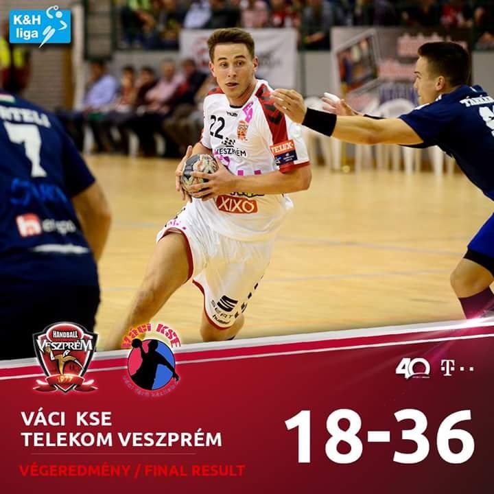 Still unbeaten in the K&H League. #HandballCity #WeAreVeszprem https://t.co/61cHtXanwF