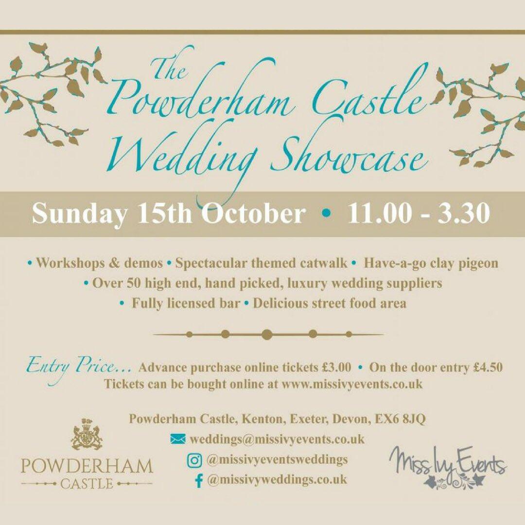 Have you got your tickets for our @powderhamcastle #Wedding Show? Catwalk, workshops &amp; exhibitors, don&#39;t miss it!  http:// missivyevents.co.uk/powderham-cast le-wedding-collection/ &nbsp; … <br>http://pic.twitter.com/75xUBEz1sG