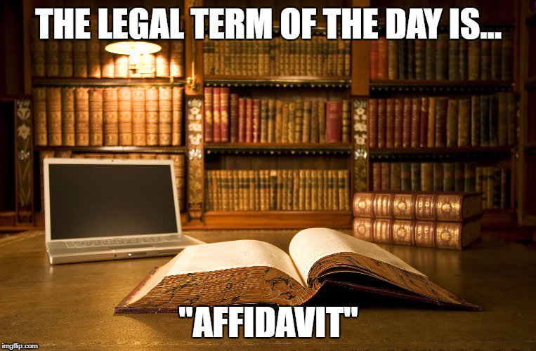 The #Legal Term of the Day is AFFIDAVIT! A written statement of #Facts by someone who has sworn to tell the #Truth.  https://www. isaacsandisaacs.com/glossary/affid avit &nbsp; … <br>http://pic.twitter.com/BE2QJJmwKN