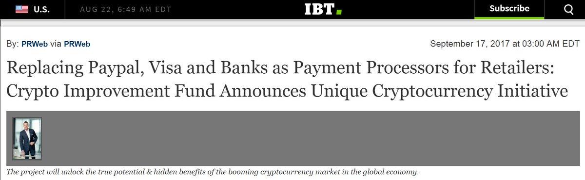 Featured Story in the @IBTimes $CIF #InternationalBusinessTimes #Bitcoin #Blockchain #ICO #PressRelease   http:// markets.financialcontent.com/ibtimes/news/r ead/34940192 &nbsp; … <br>http://pic.twitter.com/Tv8r1ljxm0
