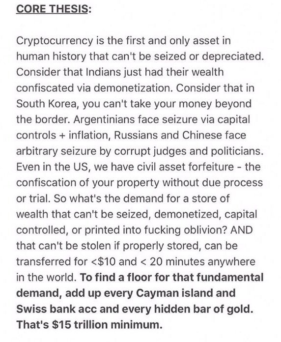 A concise and undebatable explanation for why $15 trillion is the absolute minimum floor for #bitcoin&#39;s future value. <br>http://pic.twitter.com/QTVrbEUXjZ