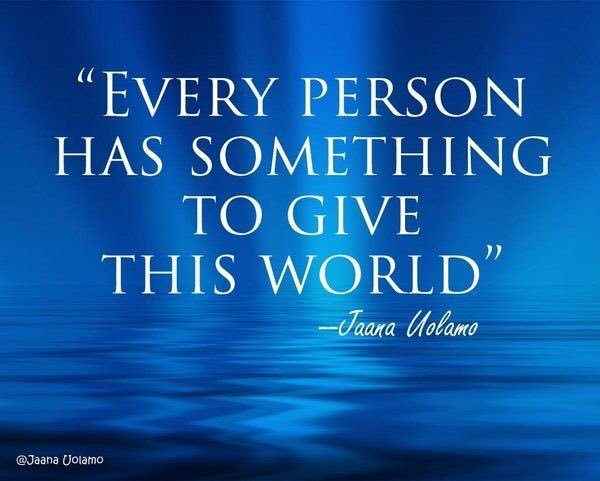 EVERY #PERSON HAS #SOMETHING TO #GIVE THIS #WORLD  Via @cherylcorless41  #InspireThemRetweetTuesday #IQRTG #TuesdayThoughts #JoyTrain <br>http://pic.twitter.com/nlAOcwARsn